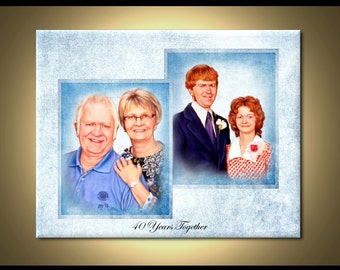 Custom Family Portrait - Wedding, Anniversary Portraits from your photos