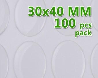 100pcs 30x40mm Oval Clear Epoxy Stickers,epoxy resin,epoxy Domes C1905