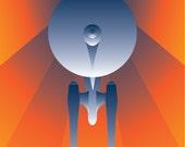 Boldly Go Art Deco Poster