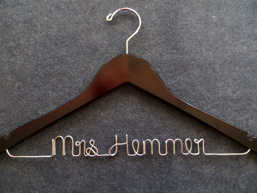 Wedding dress hanger bride hanger groom hanger mrs hanger for Mrs hangers wedding dress