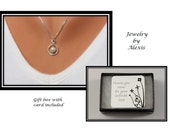 Mother of the Groom Gift - Swarovski Pearl Infinity Necklace and Chain - Sterling Silver