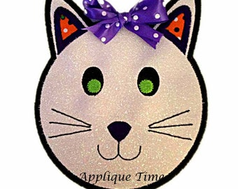 Instant Download Cat Face Machine Embroidery Applique Design 4x4, 5x7 and 6x10