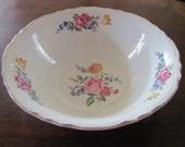 Vintage Scio Potteries serving bowl with gold trim