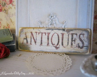 Antique Sign for Dollhouse