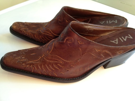 Ladies Western Mules Shoes