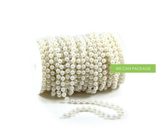 66 Feet Pearl Beads Roll Garland for Wedding Centerpiece Decorations and Party Decor