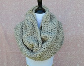 Chunky Infinity Scarf- Oatmeal- SIZE LARGE