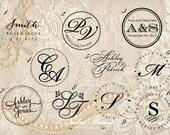 Wedding embossing seal, wedding monogram embosser