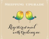 Shipping upgrade with tracking no.