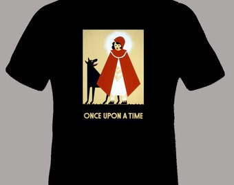 Once Upon a Time Red Riding Hood Vintage Image Adult TShirt,