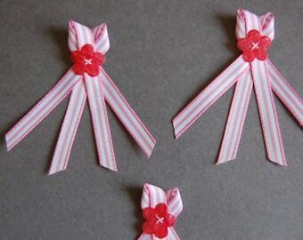 3pc - Candy Stripe Bow