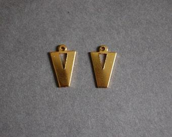 V Gold Charm