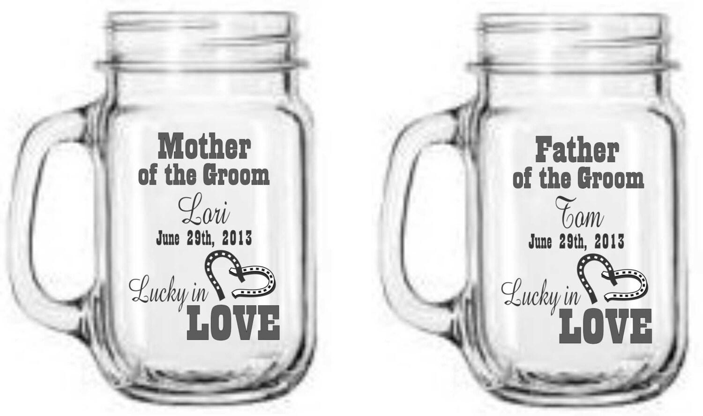 Wedding Favors Personalized Mason Jars - Western Wedding - Lucky in ...
