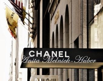 Chanel Art-Madison Ave-CoCo Chanel-Boutique Theme-Fashion Photography-Fashion Art-French Decor-Paris Print-Fashionista-Fashion Nursery- Dorm