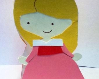 Handmade Sleeping Beauty Card- Cardstock