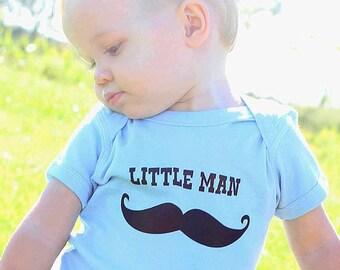 Mustache Little Man cute funny baby one piece -  Infant Bodysuit