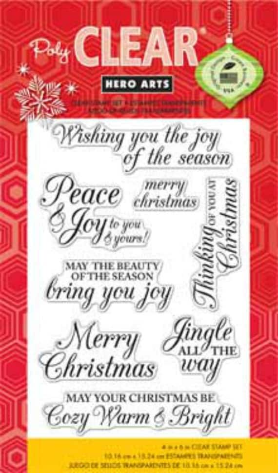 Hero Arts Merry Christmas Message CL722 Clear Stamps