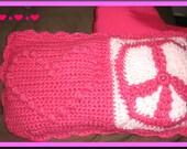 PATTERN - Crochet Peace and Love Pajama Pillow