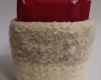 felted wool bowl square shaped container eco friendly desktop storage oatmeal and cream