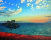 "MA'ALAEA SUNSET  11"" x 14"" Giclee on Canvas/ Original Art/ Surf Art"