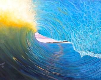 "Surf Art/ IN THE VAULT 11"" x 14"" Giclee on Canvas Print/ Fine Art Original"