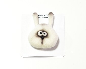 Needle felted brooch - Felt brooch - Animals brooch - Felted animals - Girls accessories - Baby accessories - gift for her - childrens gifts
