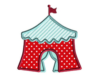 Circus Tent Applique Machine Embroidery Design-INSTANT DOWNLOAD