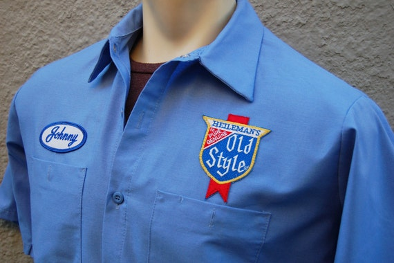 Old Style Beer Work Shirt Johnny Delivery Driver