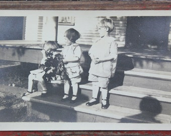 "Vintage Photo ""Kids with Mary Jane Shoes"", Photography, Paper Ephemera, Snapshot, Old Photo, Collectibles 1387"