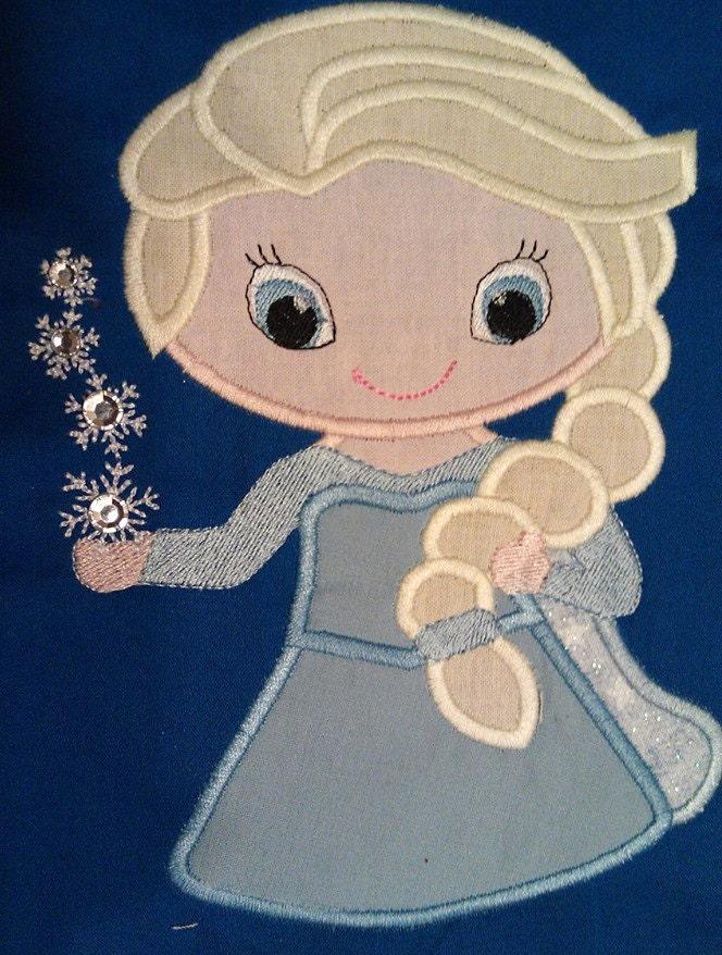Elsa cutie applique frozen design by