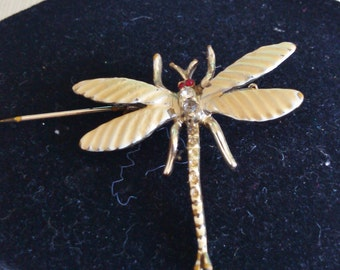 REDUCED   Old Dragonfly Brooch