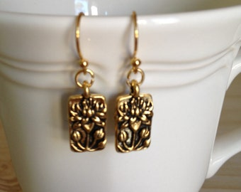 Floating Lotus Earrings