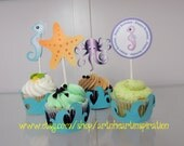 Under the Sea Cupcake Wrappers & Toppers