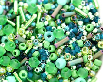 Beads Mix, TOHO Seeds - Green - N 3221, rocailles, glass beads - 10g - S267