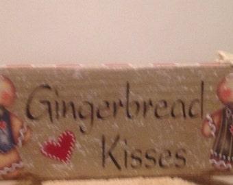 Gingerbread Block..Shelf Setter..Ginger Decor.. Country Home..Ginger Lover.. Kitchen Decor..Handmade Ginger Block..Housewarming Gift.