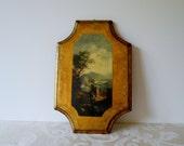 Italian Wood Wall Plaque Gold Gilt Vintage Old World Charm On Sale!