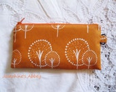 FREE SHIPPING-2013 Fall Edition Scandinavian Orange Forest Polka Dot Pencil Case from Josephine's Abbey-ORANGE Zipper