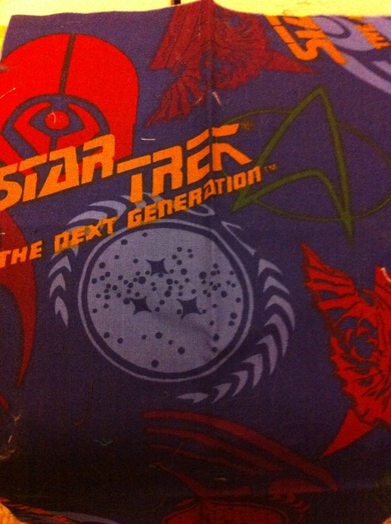vintage star trek the next generation fabric by