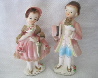 Vintage Arnart Boy & Girl Figurines