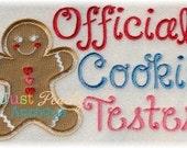 Code 50off Gingerbread Girl Cookie Tester Applique Frame Machine Embroidery Buy 1, get 1 free! Use Coupon Code 50off