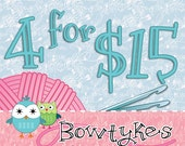 Bowtykes Crochet Pattern Combo Pack - any 4 for 15.00