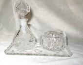 Princess House Lead Crystal Vanity Set 3 Pieces #807