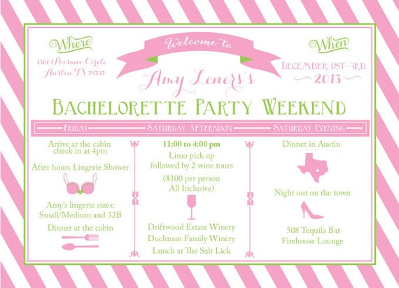 Bachelorette Party Weekend Invitations with beautiful invitations ideas