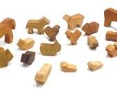 Wooden Farm Animal Toy Play Set