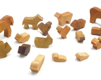 Wooden Farm Animal Toy Play Set
