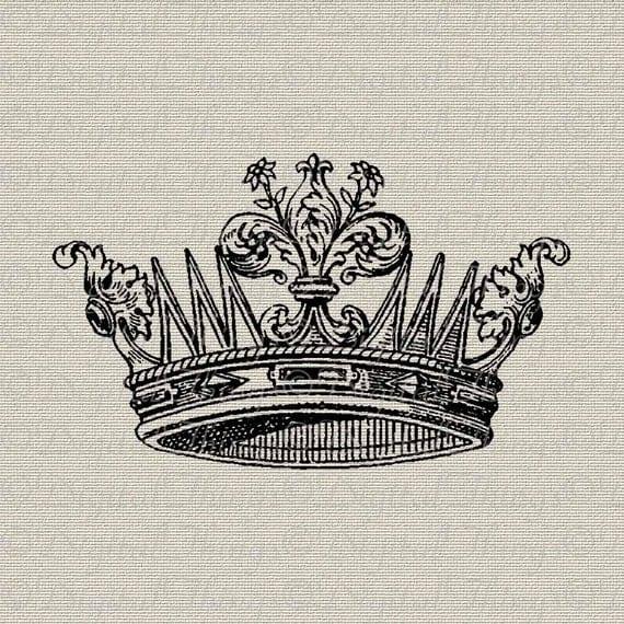 French Crown Fleur de lis Wall Decor Art French Decor