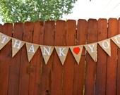 Thank You Wedding Banner, Burlap, Photo Prop, Bunting