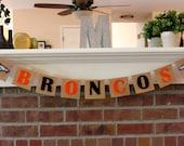 Denver Broncos Banner, Super Bowl Party, Super Bowl Banner, Peyton Manning, Decoration, Football, Burlap