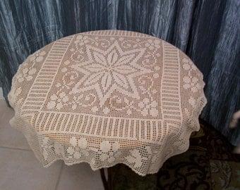 Crochet, Handmade Table Scarf