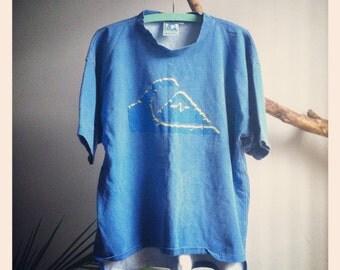 1980s Quiksilver Surfing Tee Shirt